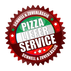 Bügel Button Kranz red Pizza Lieferservice