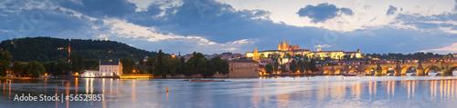 Foto op Canvas St Vitus Cathedral, Prague Castle and Charles Bridge
