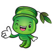 Bamboo mascot Suggests the direction. Nature Character Design Se