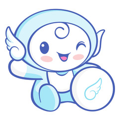 Flexibility as possible a sets of Cherub Mascot. Angel Character