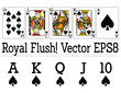 Cards of a Royal Flush! All Spades! vector eps8/ clip art
