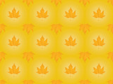 seamless autumnal pattern with maple leaves