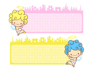 Baby Angels Mascot are pendency. Angel Character Design Series.