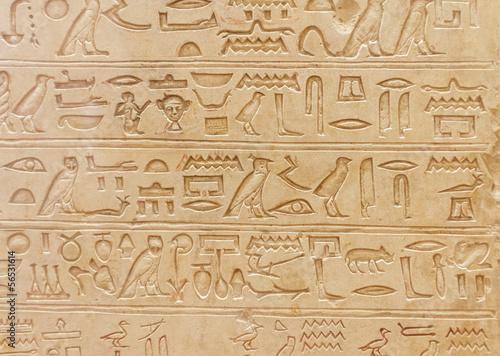 Foto op Plexiglas Wand Egyptian hieroglyphics