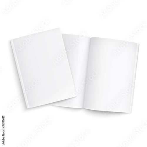 Couple of blank magazines template.