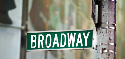 Broadway street sign New york