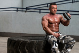Bodybuilder with Protein Shake