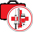First aid kit. Icon for design