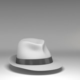 felt trilby/fedora hat isolated