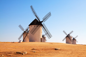 windmills in field