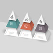 Modern infographics template in form pyramids