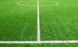 Soccer football field stadium grass line ball background