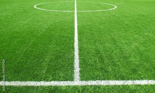 Zdjęcia na płótnie, fototapety, obrazy : Soccer football field stadium grass line ball background