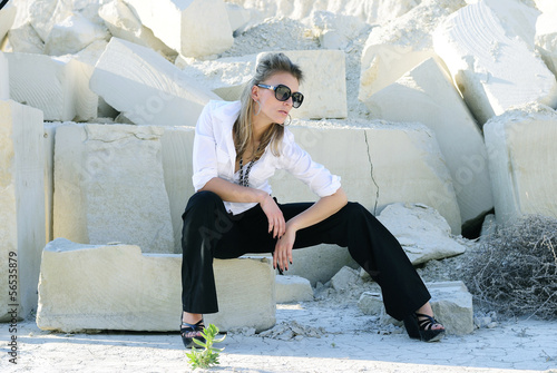 Stylish girl wearing pants and a shirt