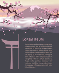Japan travel design template