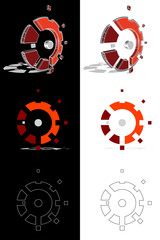 Mechanic gear logo evolution - vector eps10