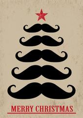 Mustache Weihnachtsbaum Retro