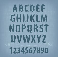 Font. Vector format