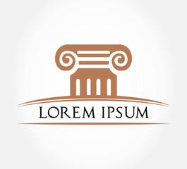 Roman Column Symbol. Vector Illustration.