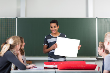 Schüler hält Referat
