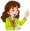 A businesswoman talking
