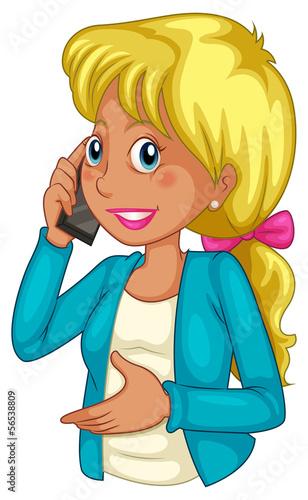 A businesswoman using a cellphone