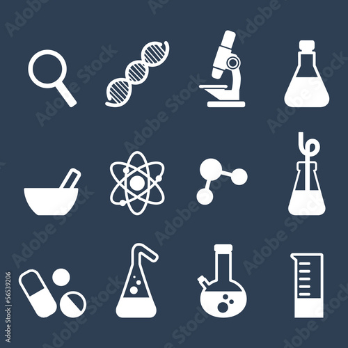 flat icon science