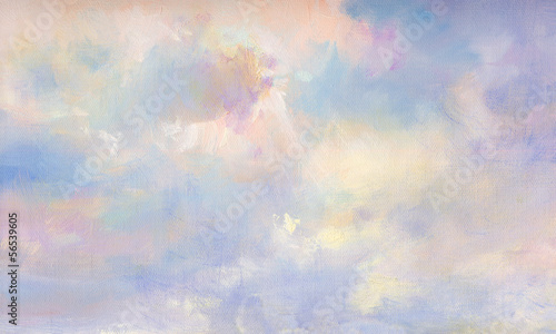 canvas print picture himmel malerei leinwand