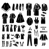 men and women clothes, shoes and accessories vector