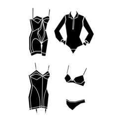 woman lingerie vector illustration
