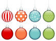 Collection of 8 Christmas Balls Colors