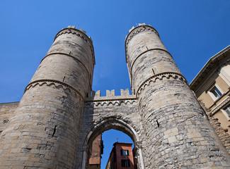 Porta Soprana gates (circa XI c.). Genoa, Italy