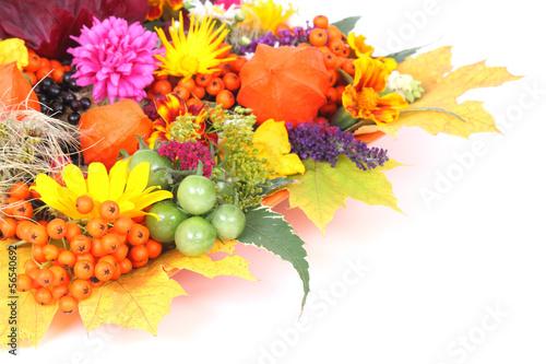 Grußkarte im Herbst