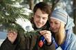 Romantic young peolple in winter