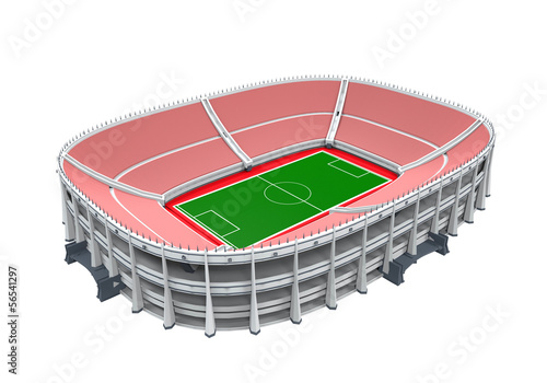 Stadium Building Isolated