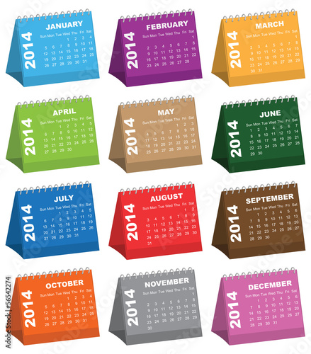 Colorful Desk Calendars