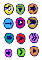 Arrow icon set Vector design