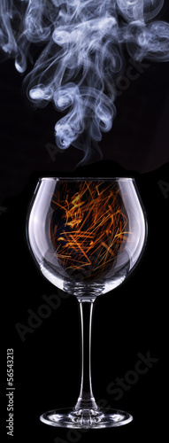 fire in a glass