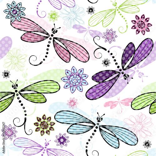 wiosna-bez-szwu-kwiatowy-wzor-z-wazki