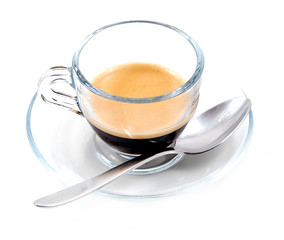 Caffè in tazza di vetro
