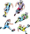 Sport mascots - soccer