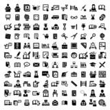 big education vector icons set