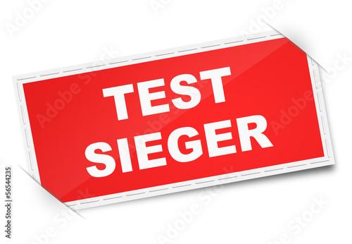 Etikett Testsieger