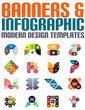 Banners and infographic modern design templates