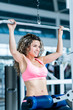 Woman exercising at the gym