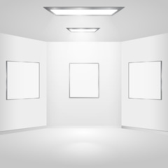 Pictures gallery with lighting