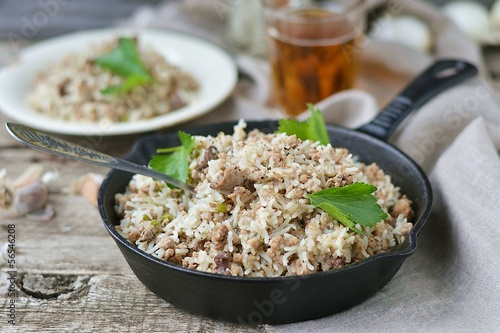 Dirty rice with ground beef