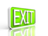 illustration of a isolated exit sign