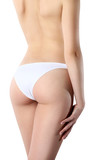 body of woman bottom and back side, Isolated on white background poster