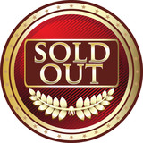 Sold Out Red Vintage Label